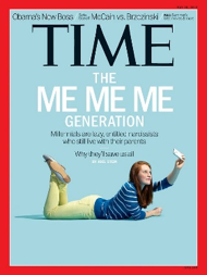 Joel Stein. Millennials: The Me Me Me Generation. Time. 2013 http://time.com/247/millennials-the-me-me-me-generation/